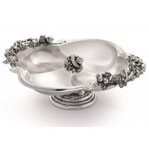 Platou cu picior argintat pentru aperitive by Sheffield - Chinelli Italy
