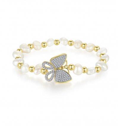 Bratara cu perle si cristale