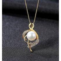 Colier din argint decorat cu perla