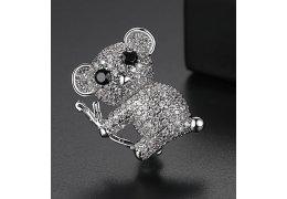Brosa cu cristale cubic zirconia Koala Bear