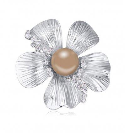 Brosa Bronze Pearl cu cristale austriece