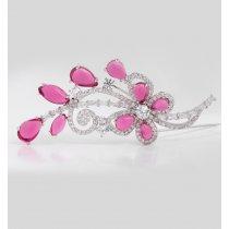 Brosa cu cristale cubic zirconia Pink Blossom