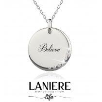 """Colier din argint 925% cu cristale cubic zirconia """"Believe"""" LANIERE Life"""