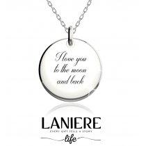 "Colier din argint 925% ""I love you"" LANIERE Life"