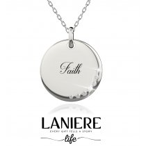 "Colier din argint ""Faith"" cu sapte cristale cubic zirconia LANIERE Life"