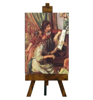 "Tablou pe sevalet ""Young girls at the piano"" Renoir"