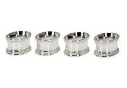 Set de 4 inele argintate pentru servetele