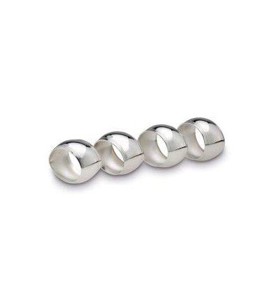 Set argintat de 4 inele pentru servetele