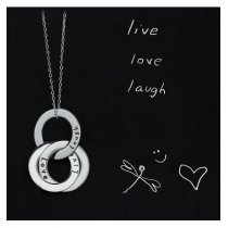 "Colier din argint ""Live. Love. Laugh"" SMALL - Wear your feelings! LANIERE Life"
