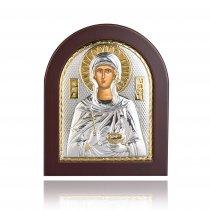 Icoana din argint cu Sfanta Parascheva