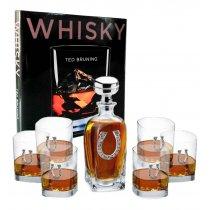Sticla de whisky si Set de 6 pahare Cavalli by Chinelli