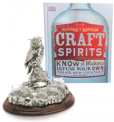 "Statueta suport pentru bauturi fine ""Wise Owl"" Chinelli"