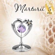 Inimioara cu Swarovski - oferta de 5 marturii nunta
