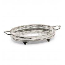 Tava argintata cu manere by Chinelli Italy