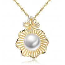 Colier Argint 925 placat cu aur 18Kt - Luxury Sea Pearl -