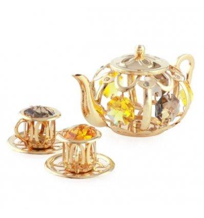 Figurina Set de Ceai cu Cristale Swarovski