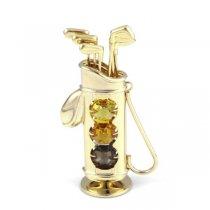 Figurina Set de Golf cu Cristale Swarovski