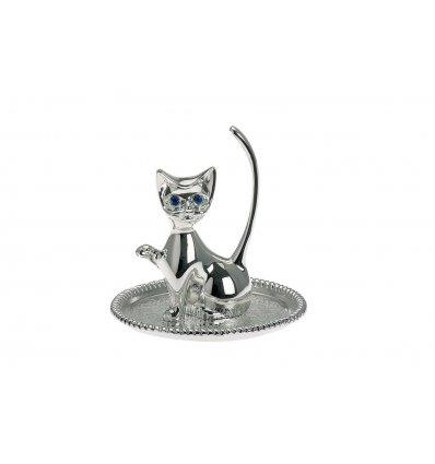 Suport argintat pentru inele - Kitty