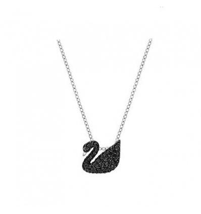 Colier Luxury Black Swan - Silver - Austrian Crystals