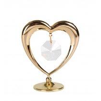 Gold Heart - Marturii nunta cu cristale Swarovski