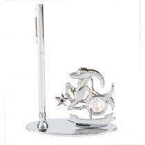 Decoratiune de birou cu pix, decorata cu cristale Swarovski - Capricorn
