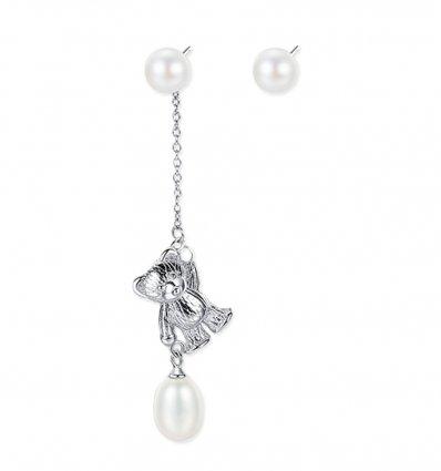 Cercei din argint si decorati cu perle Festival