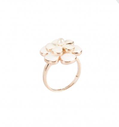 Inel decorat cu perla Edelweiss