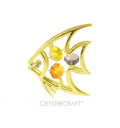 Pestisorul de Aur cu cristale Swarovski