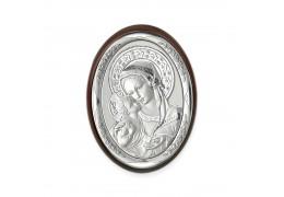 Iconita pe foita de argint - marturie botez