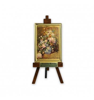 Buchet de primavara - Renoir - pe foita de aur de 23 Kt.