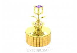Cutiuta muzicala - Lalea cu cristale Swarovski