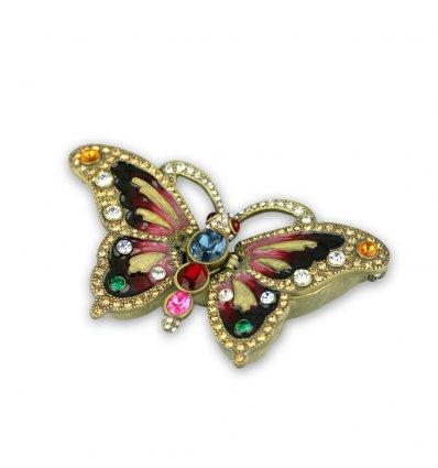 Casetuta fluture cu cristale