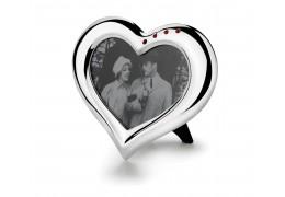 Romance - rama foto argintata cu cristale