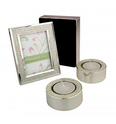 Set Diamond - rama foto, caseta de bijuterii si suport de lumanari