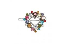 Clama de par cu cristale Swarovski in forma de inima