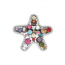 Clama de par in forma de stea cu cristale Swarovski