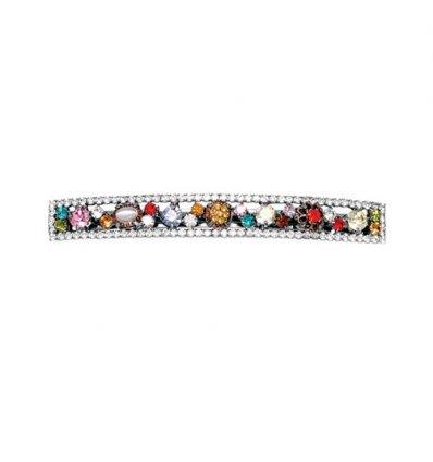 Clama de par multicolora cu Swarovski