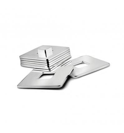 Set de 6 suporturi argintate pentru pahare