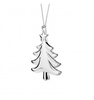 Ornament argintat pentru Bradul de Craciun