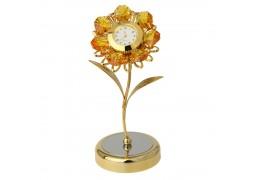Ceas de birou cu floarea soarelui