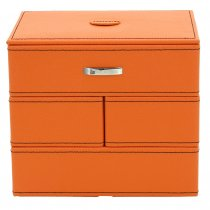 Caseta de bijuterii portocalie