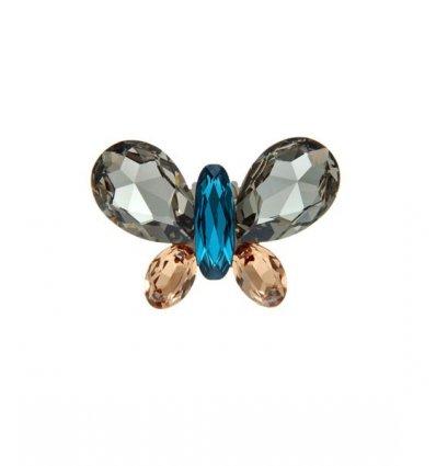 Brosa Fluture cu cristale Swarovski multicolore