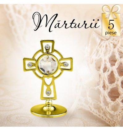 Cruciulita cu cristale Swarovski - oferta de 5 marturii botez
