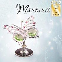 5 Fluturasi cu cristale Swarovski - oferta marturii de botez