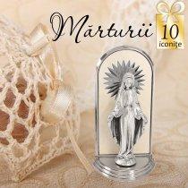 Statuete argintate - oferta de 10 marturii de nunta
