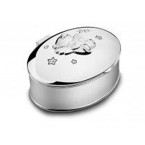 Casetuta argintata - cadou pentru botez - - colectia Twinkle