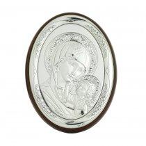Icoana argintata cu Maica Domnului