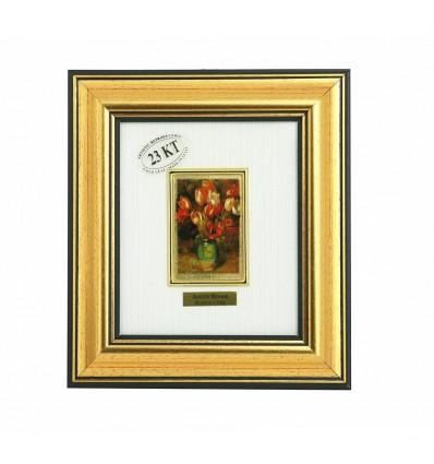 "Tablou ""Lalele"" Renoir - pe foita de aur de 23 Kt."