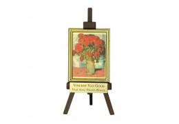 "Tablou sevalet ""Vaza cu maci rosii"" Van Gogh - pe foita de aur de 23Kt"