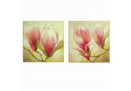"Set de 2 tablouri ""Magnolii"""